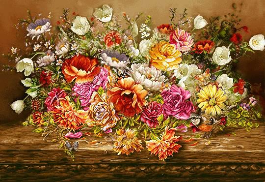 گلهای رنگارنگ