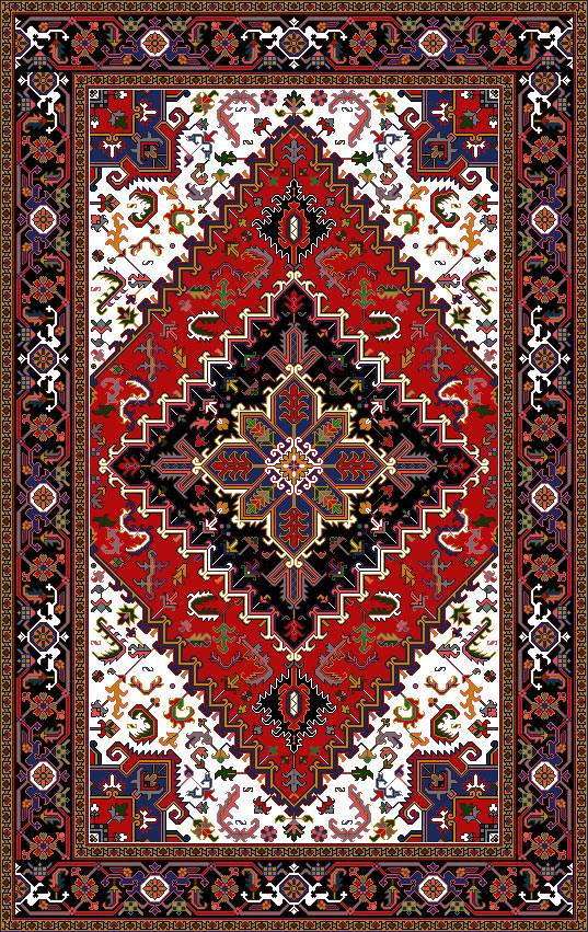 نقشه گلیم سنتی نخ و نقشه کامپیوتری طرح گلیم و فرش ایرانی