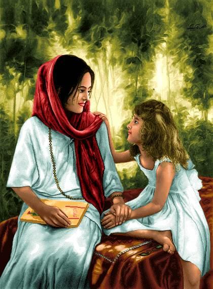 دختر و مادر
