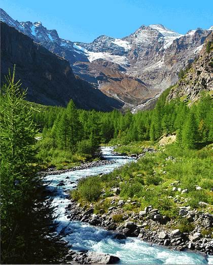 طبیعت رودخانه کوهستانی