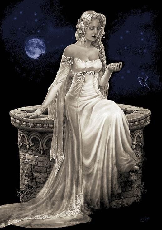 تندیس دختر مهتاب