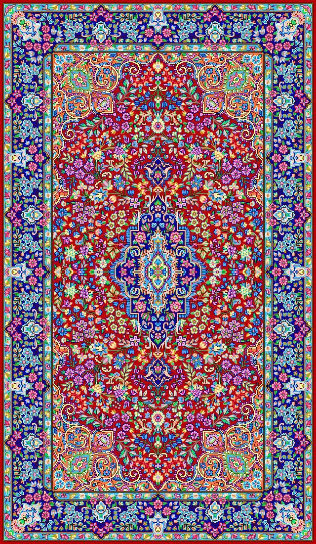 زیرپایی طرح فرش ایرانی