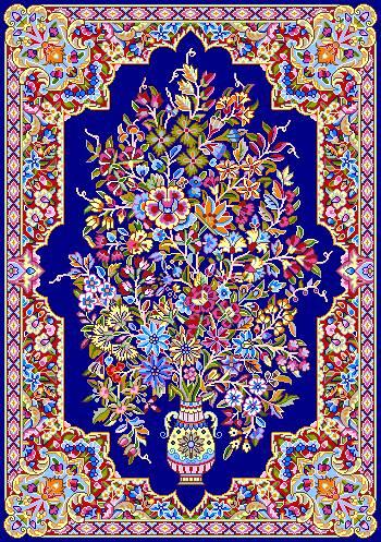 فرش طرح گلدان