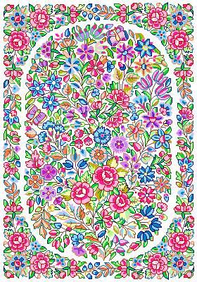 زیرپایی طرح گلهای زیبا