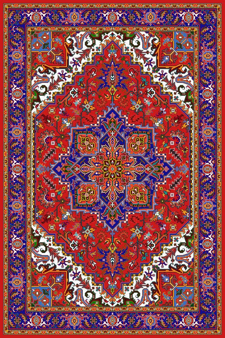 فرش زیبای قرمز