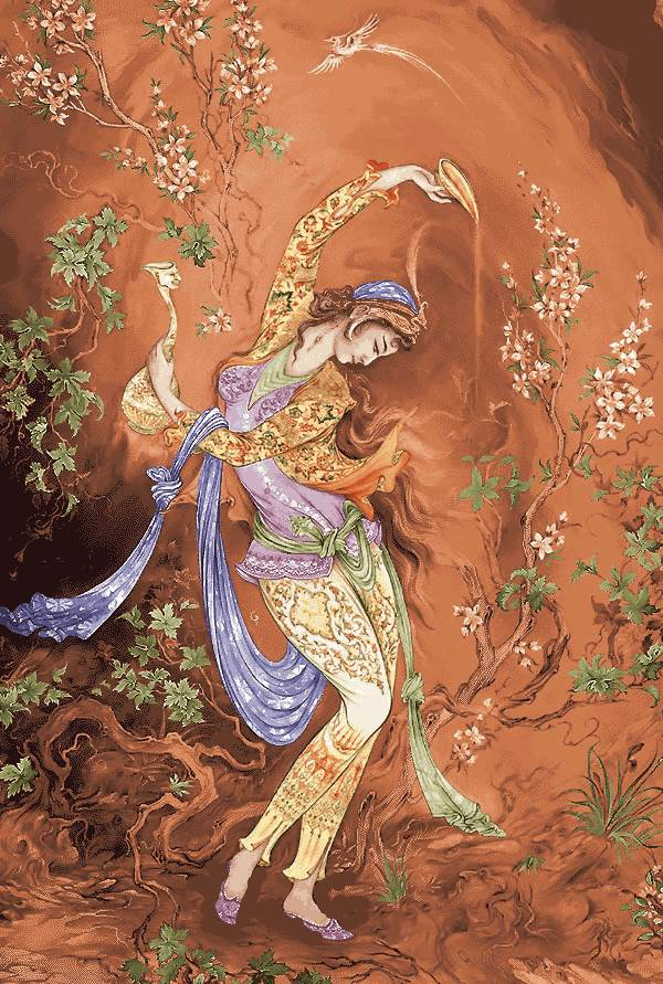 مینیاتور زن رقاصه