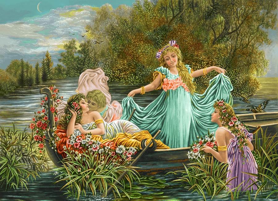 دختران فرشته در قایق