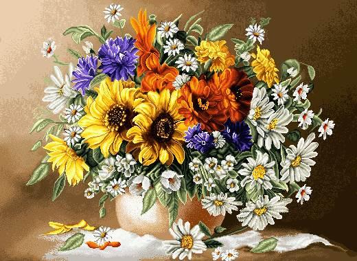 گلدان گل ساده