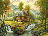 خانه در طبیعت سرسبز
