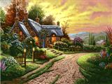 نقاشی خانه ویلایی در طبیعت