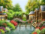 ساختمان در طبیعت بهار