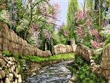 جوی آب در بهار روستا
