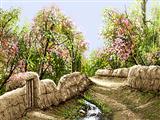 شکوفه بهاری باغ روستا