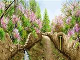 نقاشی کوچه بهاری روستا