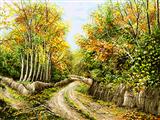 منظره پاییزی روستا