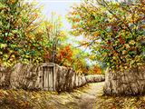 درختان رنگارنگ پاییز روستا