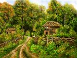 خانه شمال جنگل سرسبز