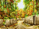 پاییز برگ ریزان روستا