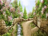 شکوفه درختان بهاری روستا
