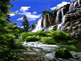 طبیعت آبشار بلند