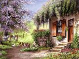 منظره خانه در طبیعت زیبا