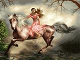دختر اسب سوار