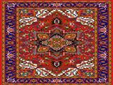 زیرپایی طرح فرش پر نقش