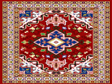 زیرپایی طرح سنتی ایرانی