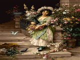 دختر گل فروش