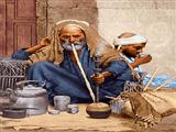 پیرمرد و قلیان