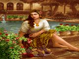 دختر ایرانی کنار حوض