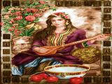 نوازنده تار زن ایرانی