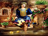 زن ایرانی با لباس سنتی