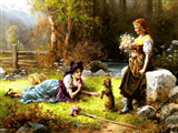 دخترها در طبیعت