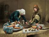 نان پختن در تنور