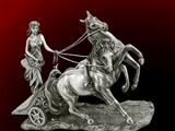 زن رومی کالسکه سوار