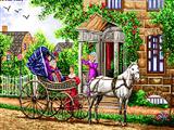 کالسکه با اسب سفید