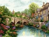 پل سنگی روی رودخانه