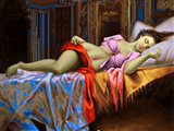 خواب دختر جوان