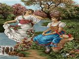 دختران کنار رودخانه