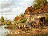 منظره زندگی روستایی