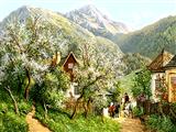 بهار در دامنه کوه