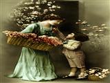 مادر پسر گل فروش