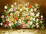 گلدان گلهای ریز سفید