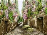 کوچه باغ بارانی