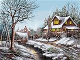 زمستان در روستا