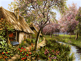 کلبه و بهار طبیعت
