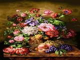 گلدان گلهای رنگارنگ