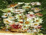 نقاشی گلدان گلها