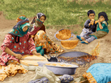 نان پختن زنان عشایر